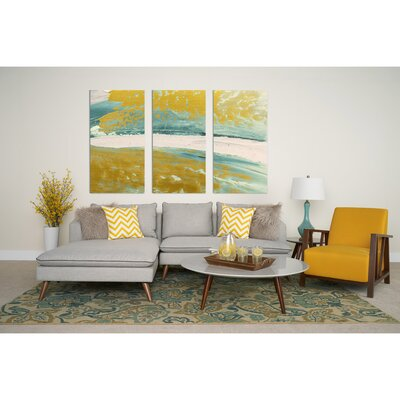 Oxnard 6 Piece Living Room Set Upholstery: Gold