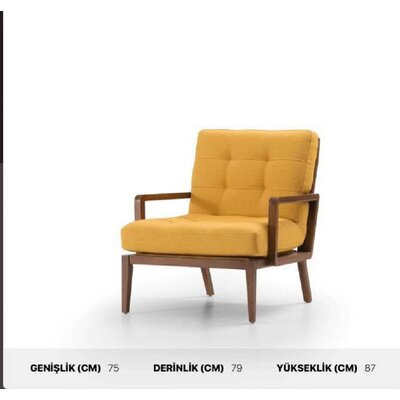 Chartier Armchair Upholstery: Yellow