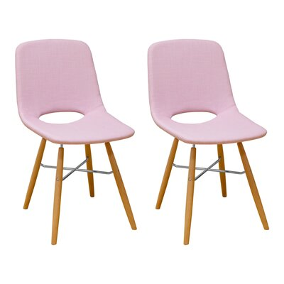 Jedidiah Upholstered Dining Chair Color: Pink