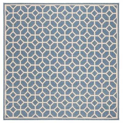Cosper Blue/Cream Area Rug Rug Size: Square 67