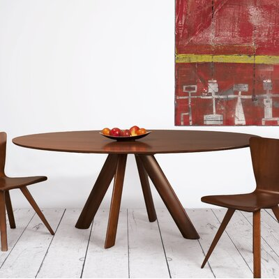 Efren Dining Table Finish: Walnut, Size: 29 H x 36 W x 70 D