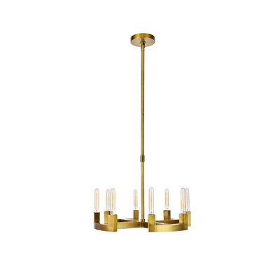 Donnell 8-Light Candle-Style Chandelier Finish: Burnished Brass, Size: 51 H x 26 W x 26 D