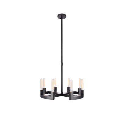 Donnell 8-Light Candle-Style Chandelier Finish: Bronze, Size: 51 H x 26 W x 26 D