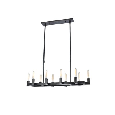 Donnell 10-Light Kitchen Island Pendant Finish: Bronze
