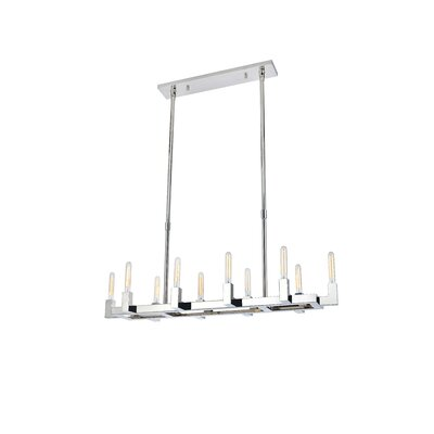 Donnell 10-Light Kitchen Island Pendant Finish: Polished Nickel