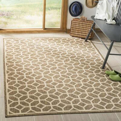 Kelli Beige/Cream Area Rug Rug Size: Rectangle 9 x 12