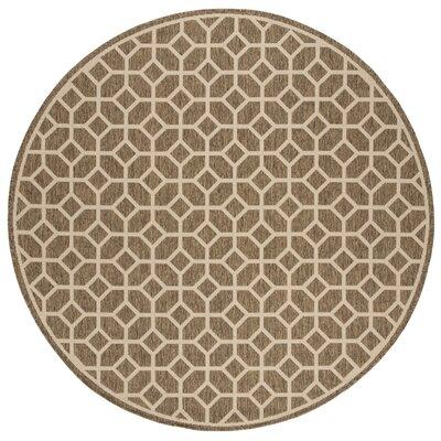 Kelli Beige/Cream Area Rug Rug Size: Round 67