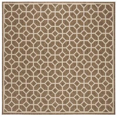 Kelli Beige/Cream Area Rug Rug Size: Square 67