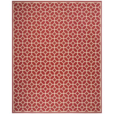 Didmarton Red/Creme Area Rug Rug Size: Rectangle 8 x 10