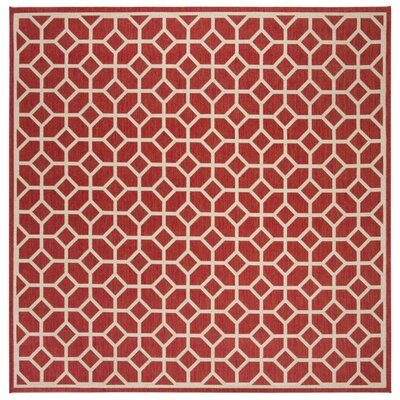 Didmarton Red/Creme Area Rug Rug Size: Square 67