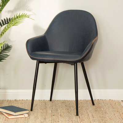 Zosia Mid Century Modern Upholstered Dining Chair Upholstery: Deep Indigo
