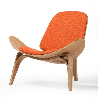 Lucas Lounge Chair Upholstery: Orange