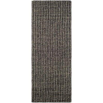 Carlane Hand-Woven Brown Area Rug Rug Size: Runner 22 x 79