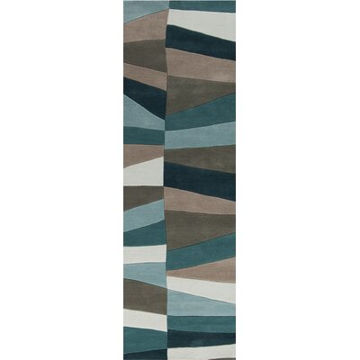 Carlotta Dried Oregano/Sea Blue Area Rug Rug Size: Runner 26 x 8