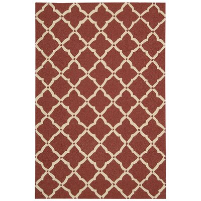 Isla Hand-Tufted Red Indoor/Outdoor Area Rug Rug Size: 2'3