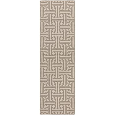 Delaney Camel / Cream Outdoor Area Rug Rug Size: Runner 23 x 79