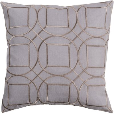 Camlin Circular Linen Throw Pillow Size: 18 H x 18 W x 4 D, Color: Charcoal
