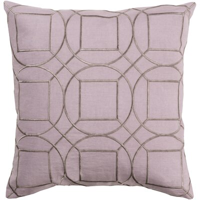 Lambda Square Linen Throw Pillow Size: 18 H x 18 W x 4 D, Color: Mauve