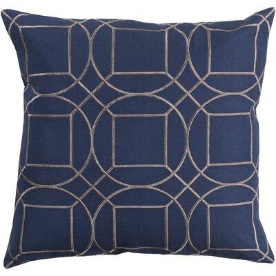 Camlin Circular Linen Throw Pillow Size: 20 H x 20 W x 4 D, Color: Cobalt