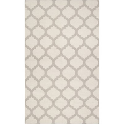 Hackbarth Oatmeal/White Area Rug Rug Size: Rectangle 36 x 56