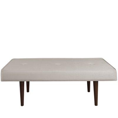 Velvet Bedroom Bench Color: Light Gray