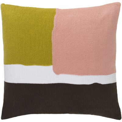 Escanaba Down Throw Pillow Size: 22 H x 22 W x 4 D, Color: Gold/Pastel Pink/Chocolate/Ivory