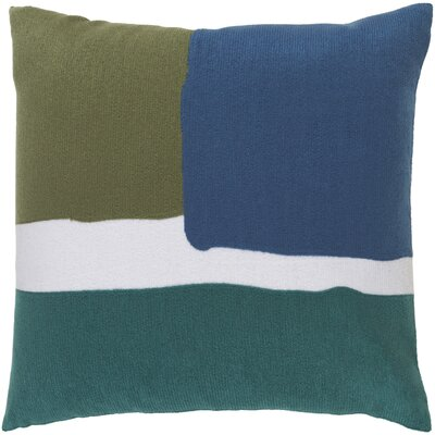 Escanaba Down Throw Pillow Size: 22 H x 22 W x 4 D, Color: Forest/Teal/Cobalt/Ivory
