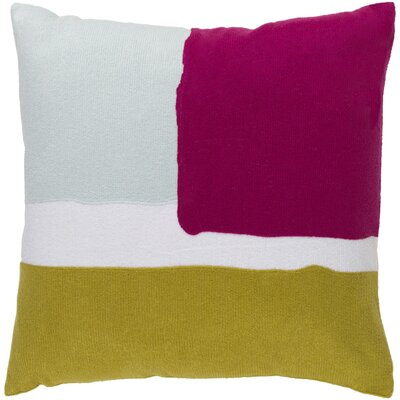 Escanaba Down Throw Pillow Size: 22 H x 22 W x 4 D, Color: Light Gray/Gold/Hot Pink/Ivory