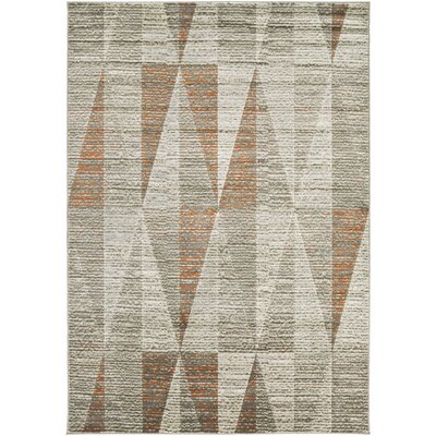 Lundgren Light Gray Area Rug Rug Size: Rectangle 76 x 106