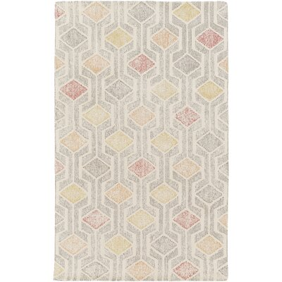 Madero Hand-Tufted Ivory/Gray Area Rug Rug Size: Rectangle 5 x 76