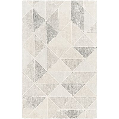 Madero Hand-Tufted Charcoal/Ivory Area Rug Rug Size: Rectangle 2 x 3