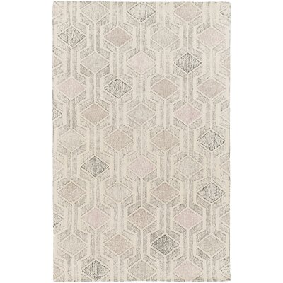 Madero Hand-Tufted Ivory/Gray Area Rug Rug Size: Rectangle 4 x 6