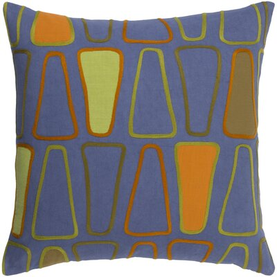 Glen Cotton Throw Pillow Size: 18 H x 18 W x 4 D, Color: Cobalt/Olive/Rust/Lime/Tangerine