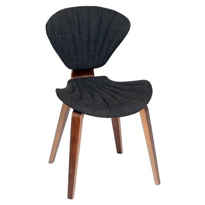 Lisa Side Chair Upholstery: Charcoal