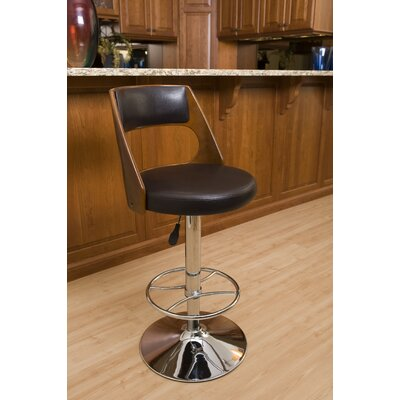 Conejara Adjustable Height Swivel Bar Stool Finish: Cherry Wood