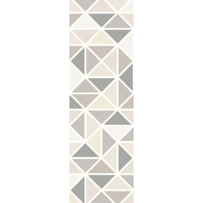 Madero Hand-Tufted Charcoal/Ivory Area Rug Rug Size: Runner 26 x 8