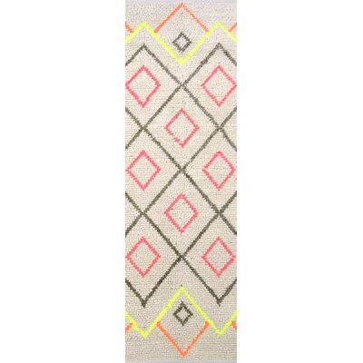 Gainesville Hand-Woven Gray Area Rug Rug Size: Runner 26 x 8