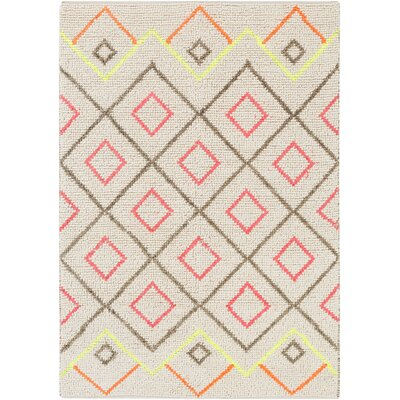 Gainesville Hand-Woven Gray Area Rug Rug Size: 4 x 6