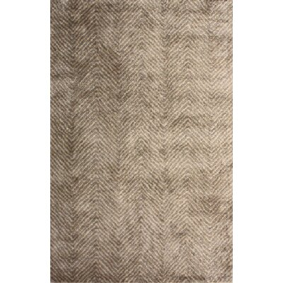 Picabo Hand-Woven Brown Area Rug Rug Size: 5 x 76