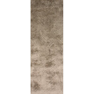 Picabo Hand-Woven Brown Area Rug Rug Size: Runner 26 x 10