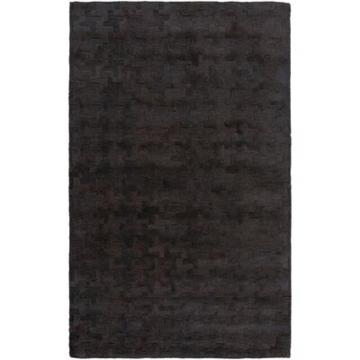 Paolo Hand-Tufted Charcoal Area Rug Rug Size: 5 x 76