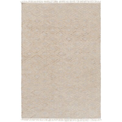 Pascal Hand-Woven Beige Area Rug Rug Size: 6 x 9