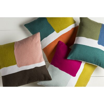 Escanaba Down Throw Pillow Color: Teal/Gold/Coral/Ivory, Size: 20 H x 20 W x 4 D