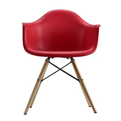 Whiteabbey Molded Armchair Upholstery: Red