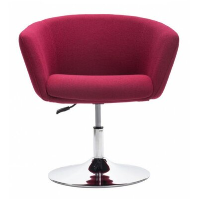 Rogin Barrel Chair Color: Red