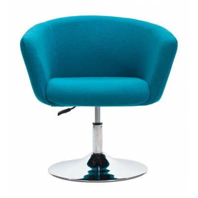 Rogin Barrel Chair Color: Blue