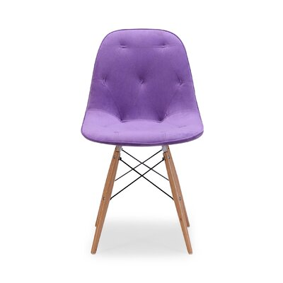 Araby Dining Side Chair Fabric: Purple