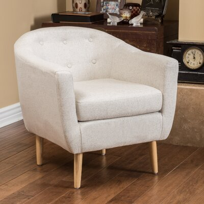 Conklin Barrel Chair Upholstery: Light Coffee