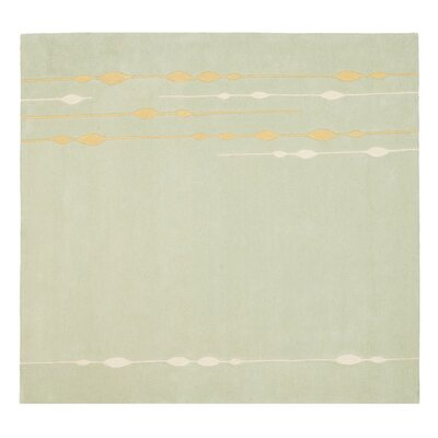 Bermondsey Hand-Tufted Light Green Area Rug Rug Size: Square 6