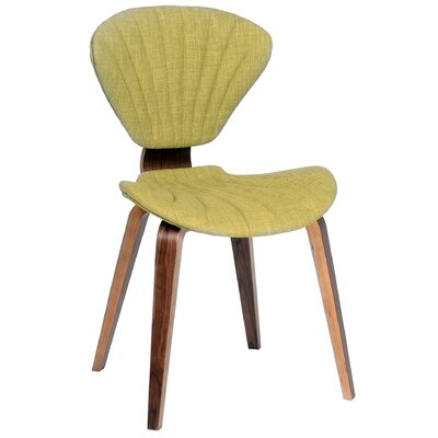 Lisa Side Chair Upholstery: Green